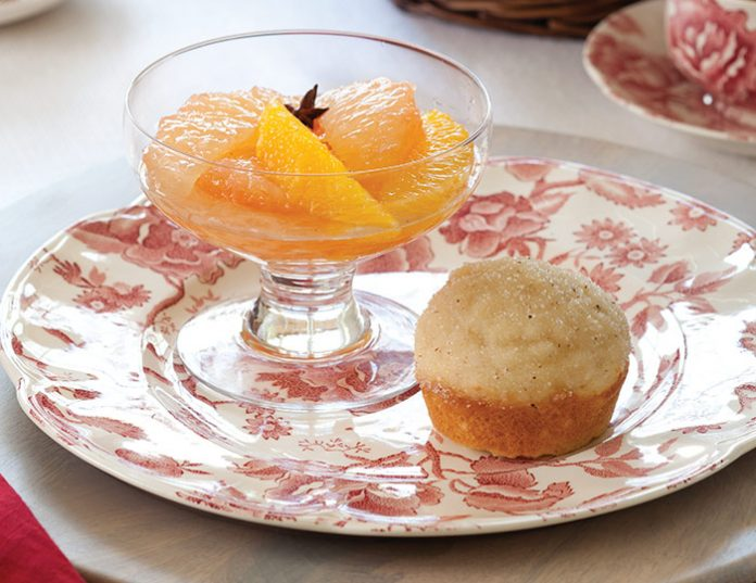 Grapefruit-Orange Compote with Vanilla–Star Anise Syrup
