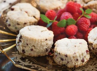 Raspberry-Mint Scones