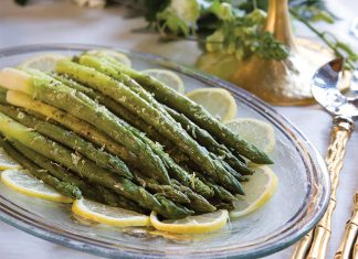 Lemon-Scented Steamed Asparagus