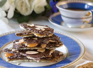 Chocolate-Almond Matzo Brittle