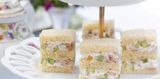 Asparagus, Serrano Ham, and Goat Cheese Tea Sandwiches