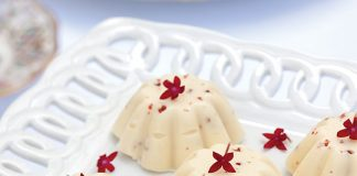 Pink Peppercorn–White Chocolate Candies with Strawberries