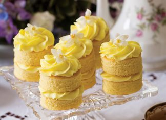 Lemon-Ginger Cake Stacks