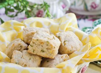 Corn, Goat Cheese & Chive Scones