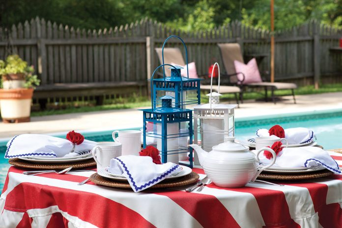 Red, White, and Blue Celebration Tea