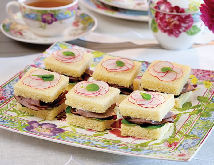 Roast Beef–Radish Tea Sandwiches