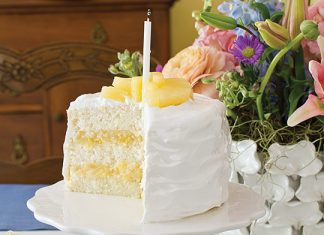 Pineapple-Filled White Layer Cake