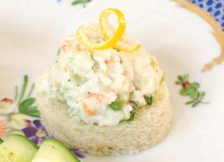 Shrimp Salad Canapés