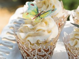 Vanilla Cupcakes with Salted Browned Butter Frosting