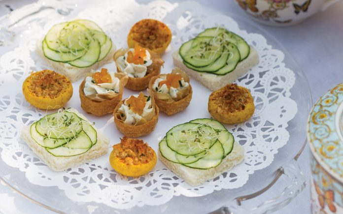 Cucumber-Sprouts Canapés