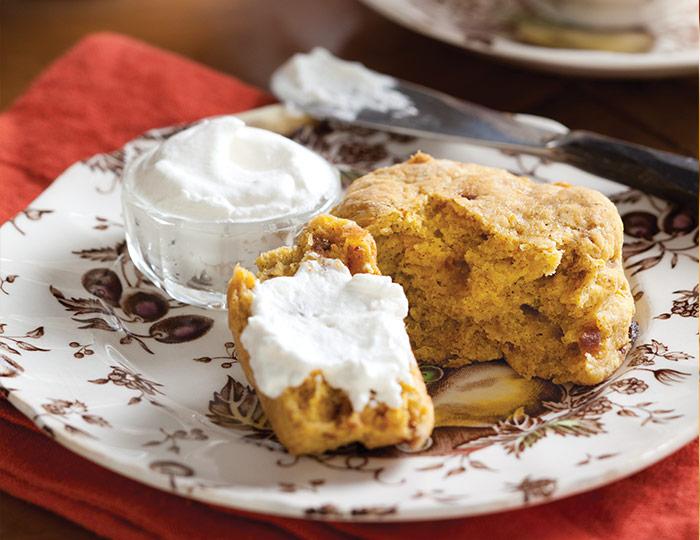 Gluten-free Pumpkin-Date Scones