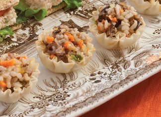 Ginger-Orange Wild Rice Salad in Phyllo Cups