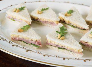 Ham Tea Sandwiches with Pine Nut Spread