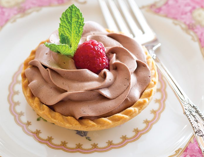 Rosy Chocolate-Raspberry Tartlets