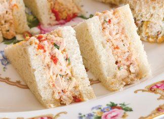 Prosciutto Chicken Salad Tea Sandwiches