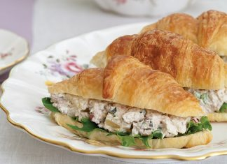 Pineapple-Basil Chicken Salad Croissants