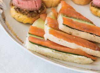 Smoked Salmon–Cucumber Canapés