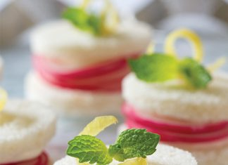 Lemon-Mint Radish Tea Sandwiches