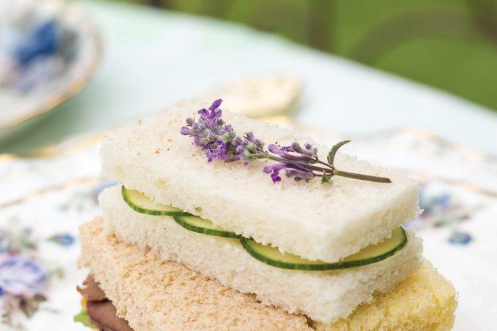 Mint Lavender–Cucumber Sandwiches