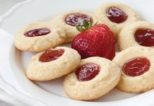 Strawberry-Orange Thumbprint Cookies