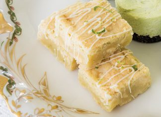 White Chocolate-Lime Blondies