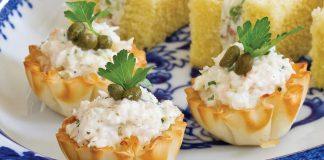 Lemon-Caper Shrimp Salad Canapes