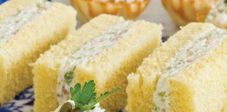 Olive-Almond Finger Sandwiches