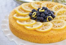 Lemon-Blueberry Cornmeal Cake