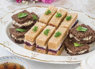 Chicken and Black Raspberry Tea Sandwiches