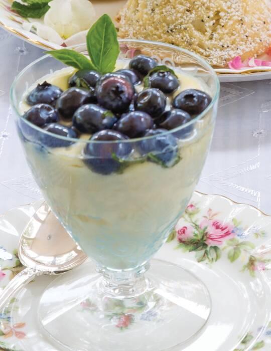 Blueberry-Basil Creamy Parfaits
