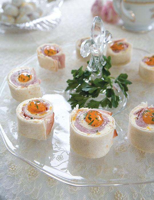 Ham and Apricot Pinwheels