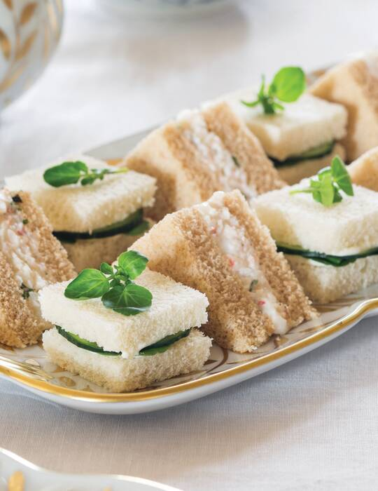 Basil Shrimp Salad Tea Sandwiches Teatime Magazine