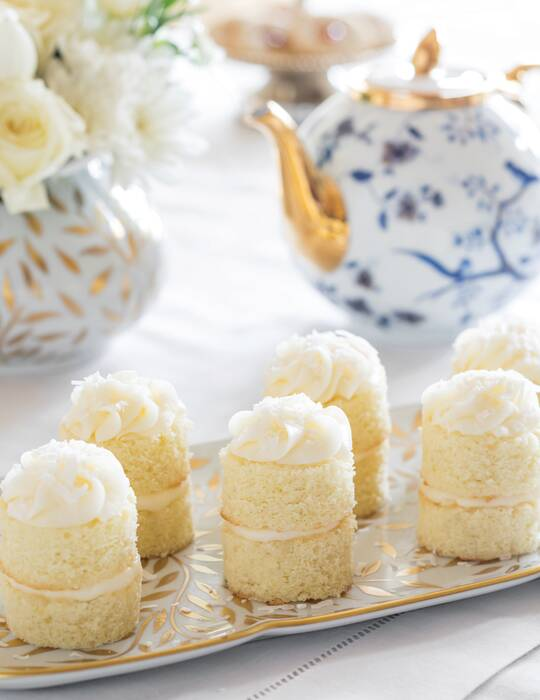 Mascarpone-Filled Coconut Cakes with Lemon Buttercream