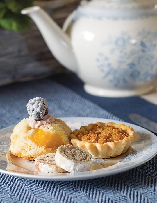 Peach & Blackberry Puddings