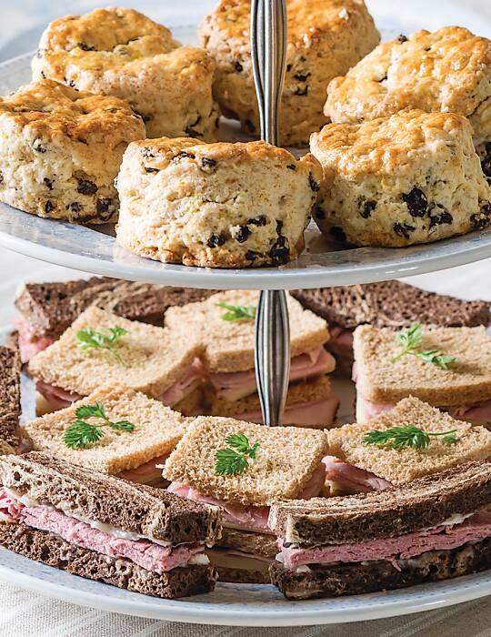 Ham, Tomato Chutney & Cheddar Tea Sandwiches