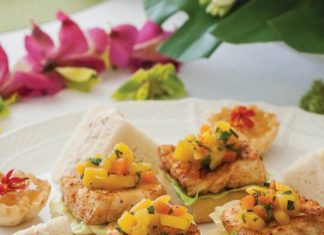 Mango Salsa & Mahi Mahi Canapés