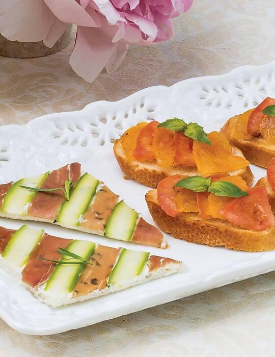 Prosciutto-Asparagus Canapés