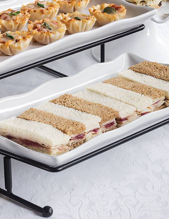 Turkey & Cranberry Chutney Tea Sandwiches