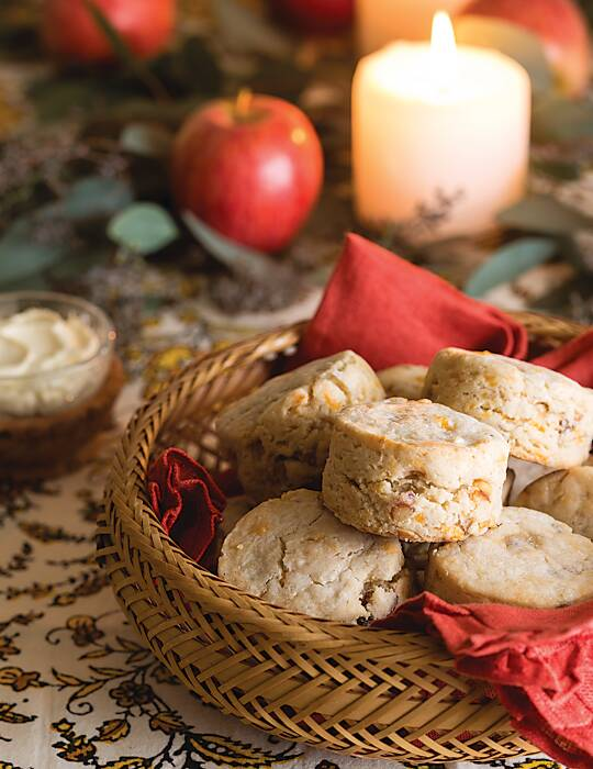 Apple, Pecan & Cheddar Gluten-Free Scones
