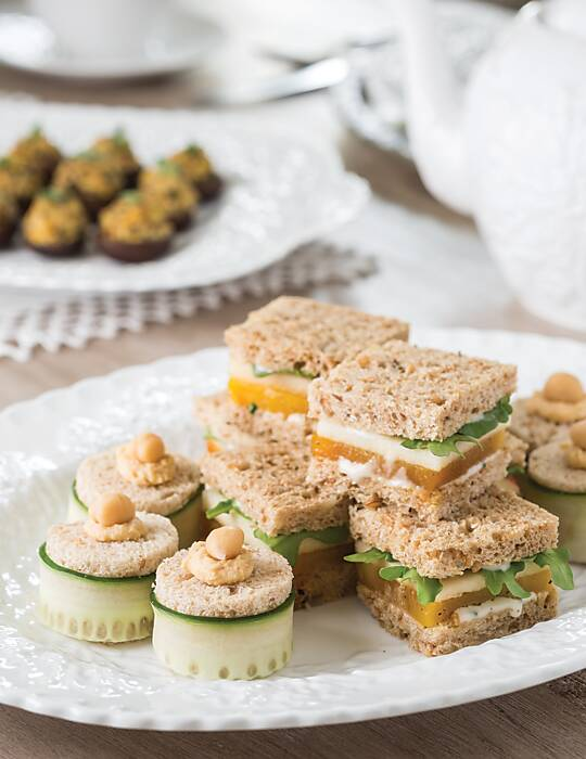 Beet and Apple Tea Sandwiches