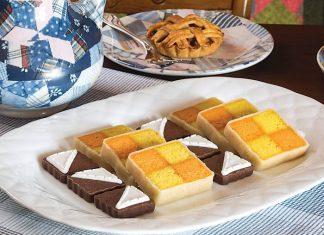 Lemon-Orange Battenberg Cake