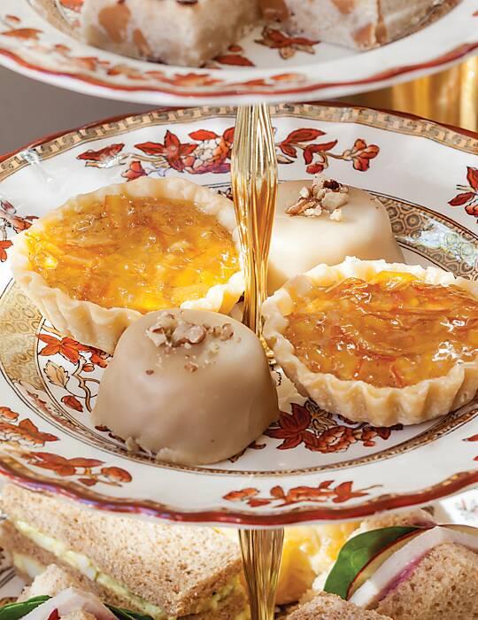 Orange-Glazed Sweet Potato Tartlets