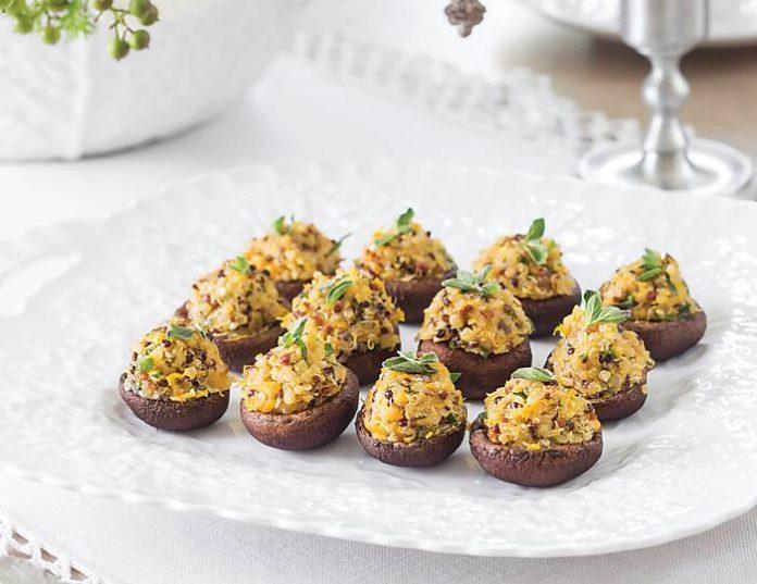 Quinoa-Stuffed Mushrooms