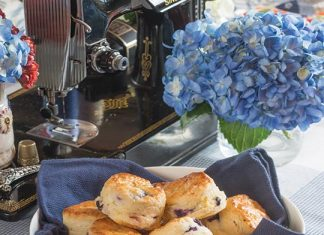 Blueberry–Goat Cheese Scones