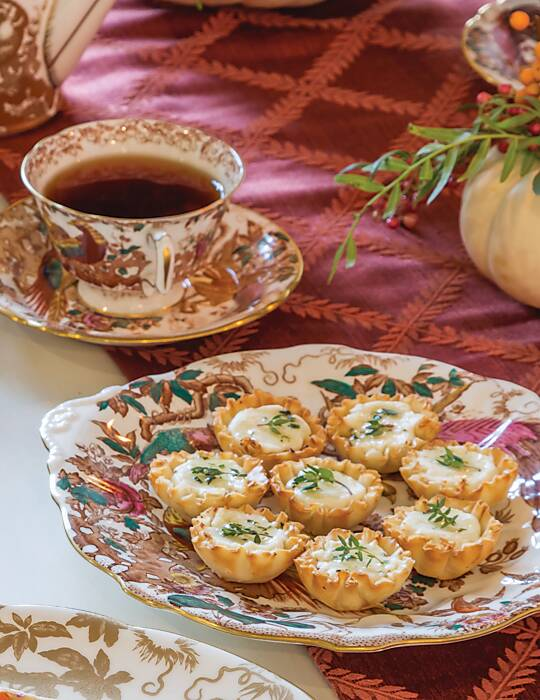 Honey, Thyme, and Goat Cheese Phyllo Cups