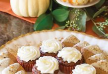Mini Gingerbread Cupcakes with Lemon-Cream Cheese Frosting