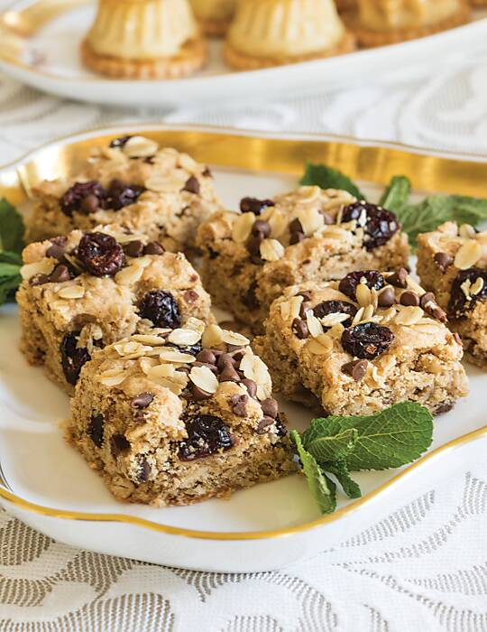 Almond, Cranberry & Chocolate Oat Squares