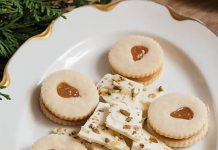 Pear Linzer Cookies