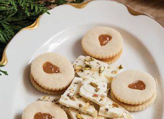 Pear Linzer Cookies