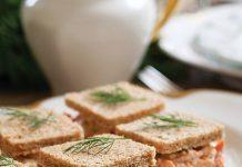 Salmon Salad Tea Sandwiches